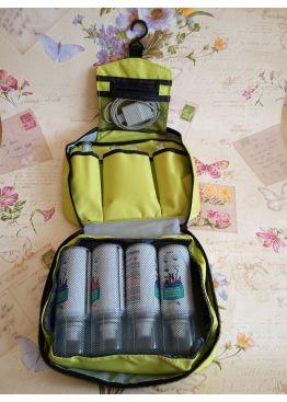 Салатовая вместительная дорожная сумка-органайзер Travel bag