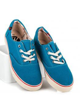 Синие джинсовые женские кеды на грубой подошве New Collection Kylia