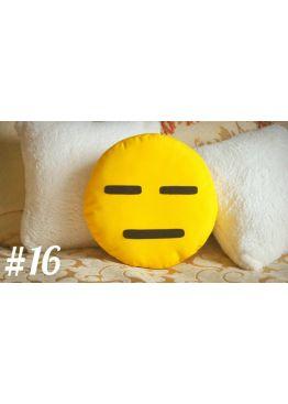 ПОДУШКА-СМАЙЛИК EMOJI #16 Угрюмый пессимист