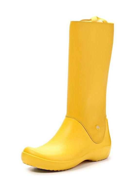 Купити онлайн Жовті жіночі гумові чоботи недорого по ціні 733 грн ... 1b8beca700b09