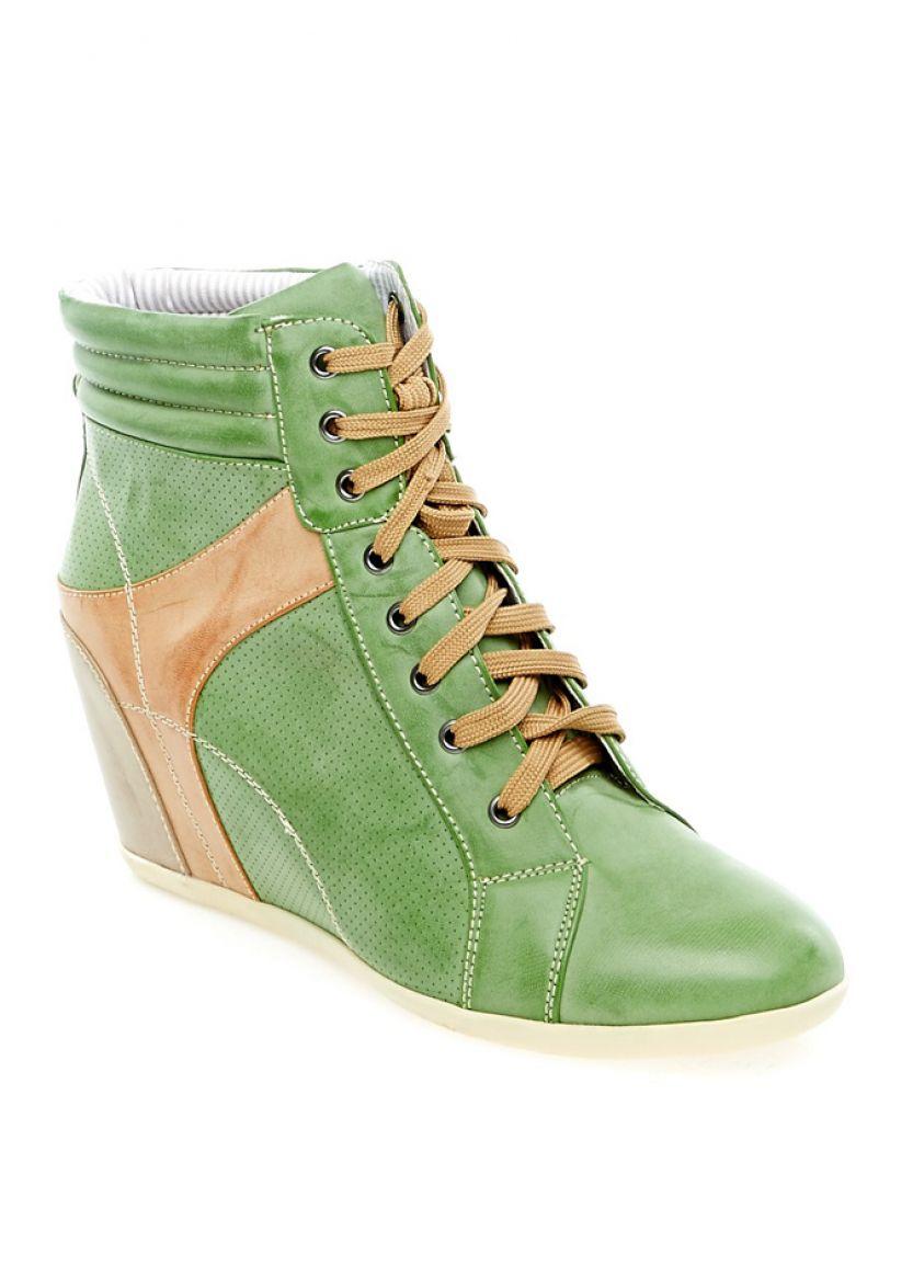 Купити онлайн Зелені жіночі снікерси недорого по ціні 733 грн ... 3b6f00d31b202